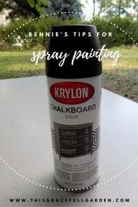 Bennie's tips for spray painting